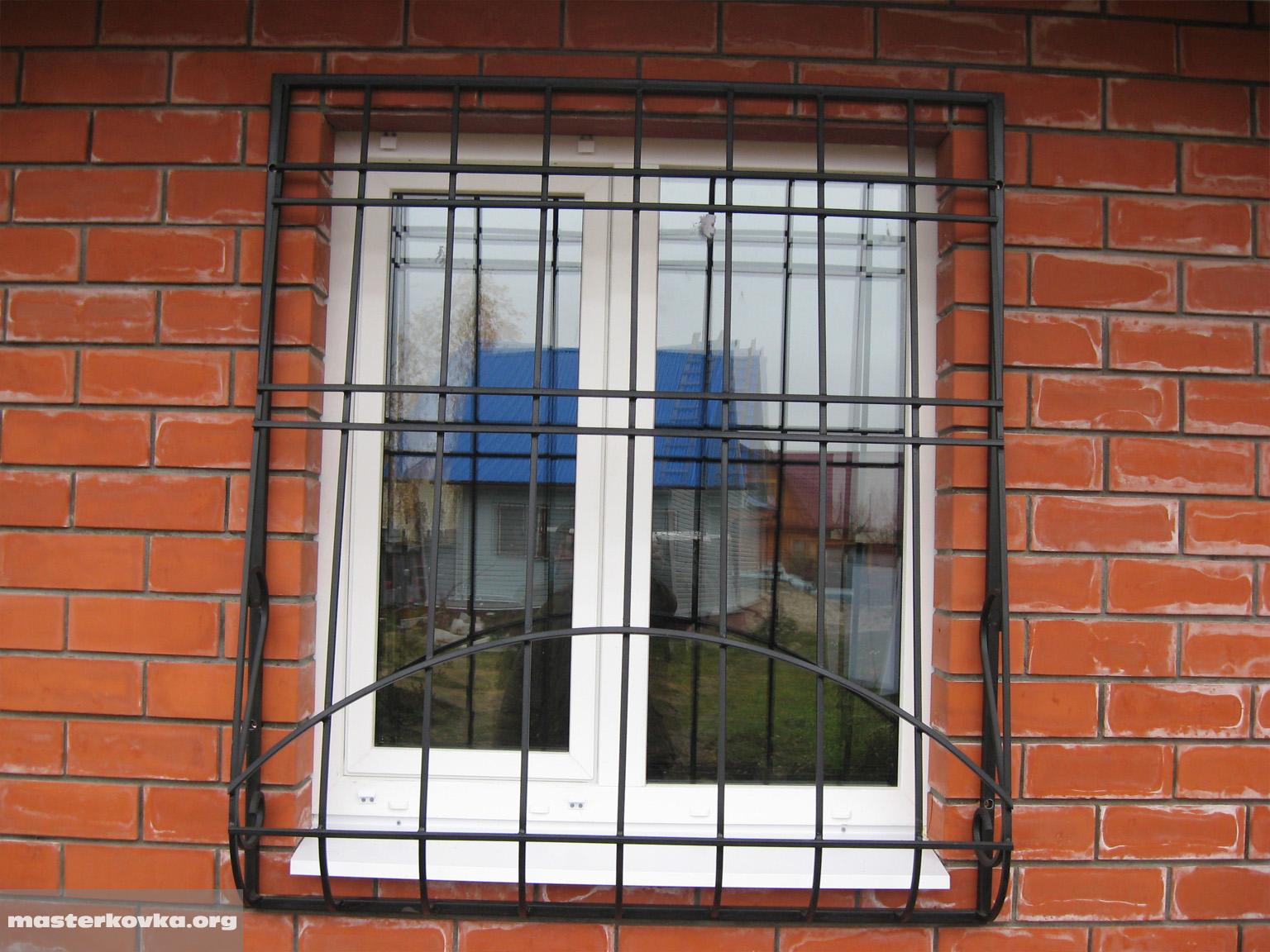 Как сделать решетку на окнах